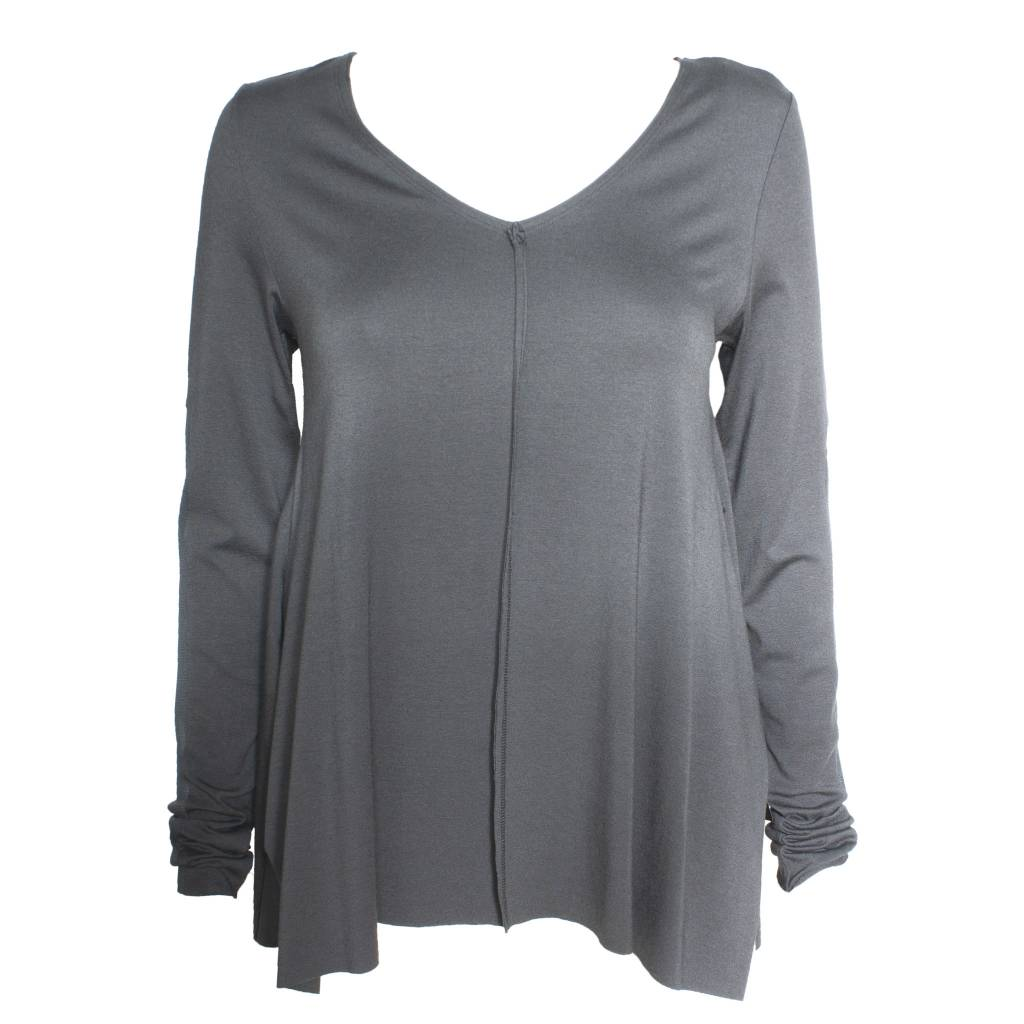 Xenia Xenia Grey Abut Knitted Shirt