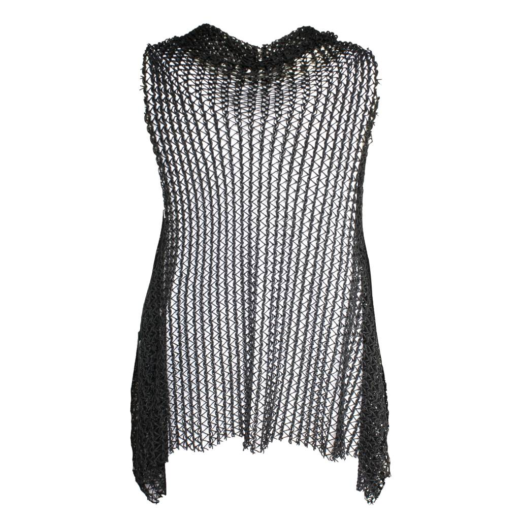Xenia Xenia Black Taka Knitted Vest