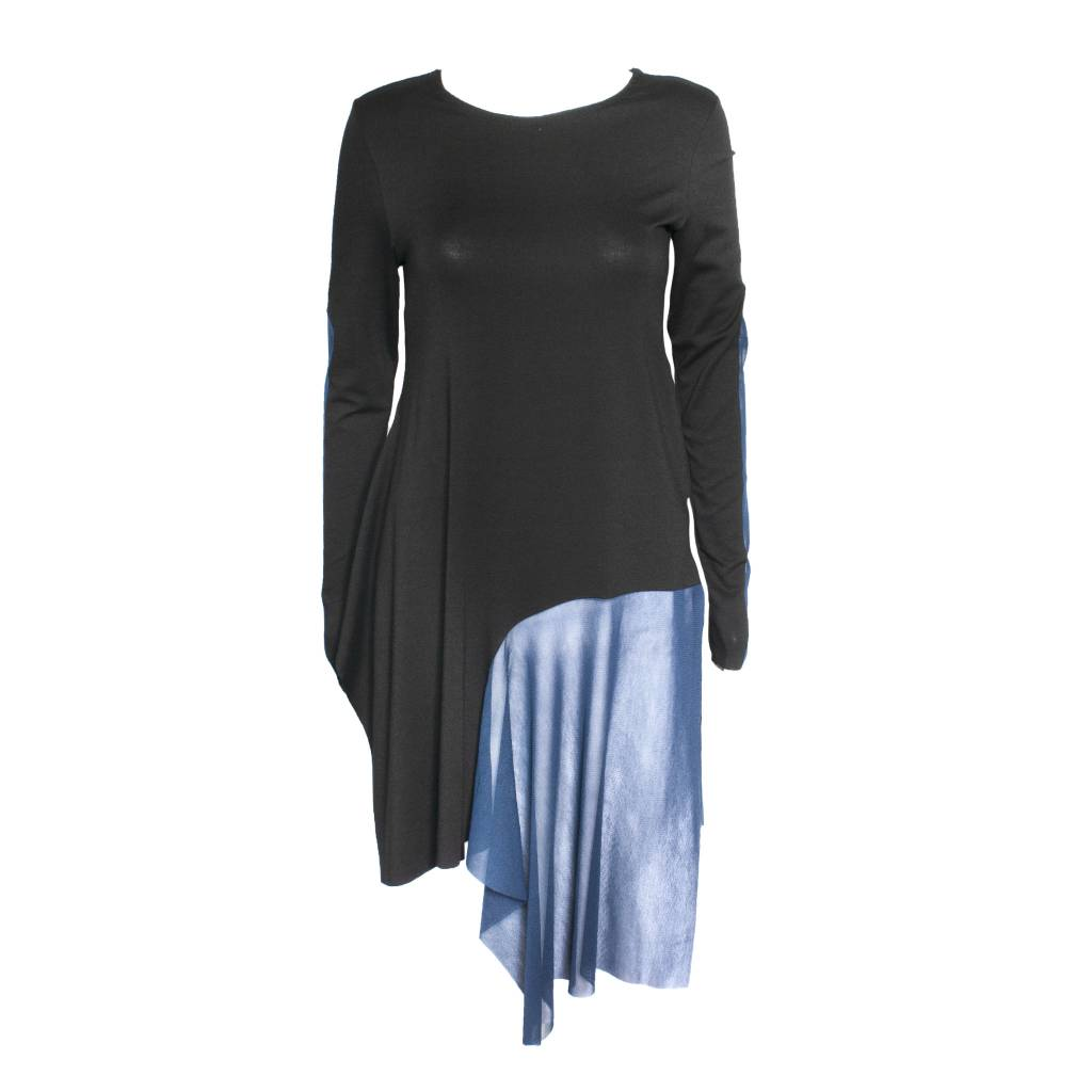 Xenia Xenia Black/Blue Bron Knitted Shirt