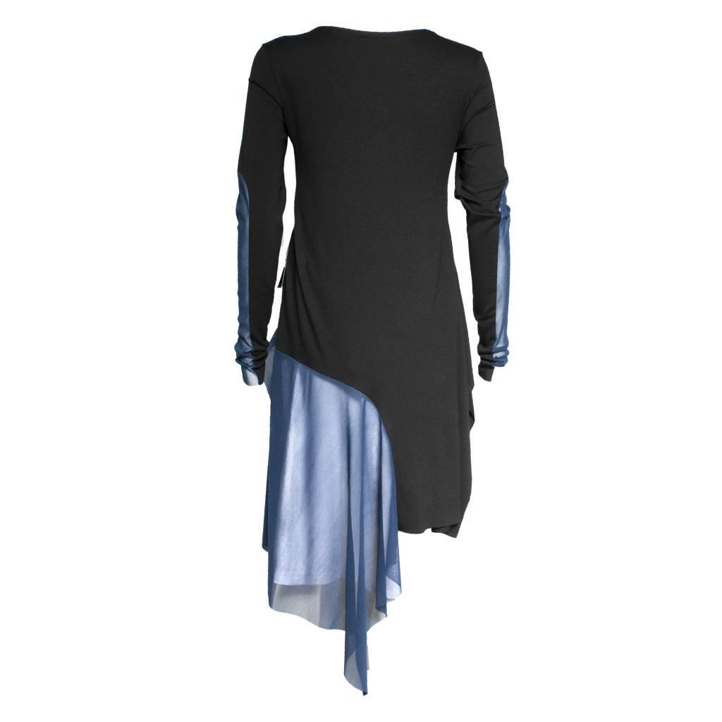 Xenia Xenia Black/Blue Bron Knitted Shirt