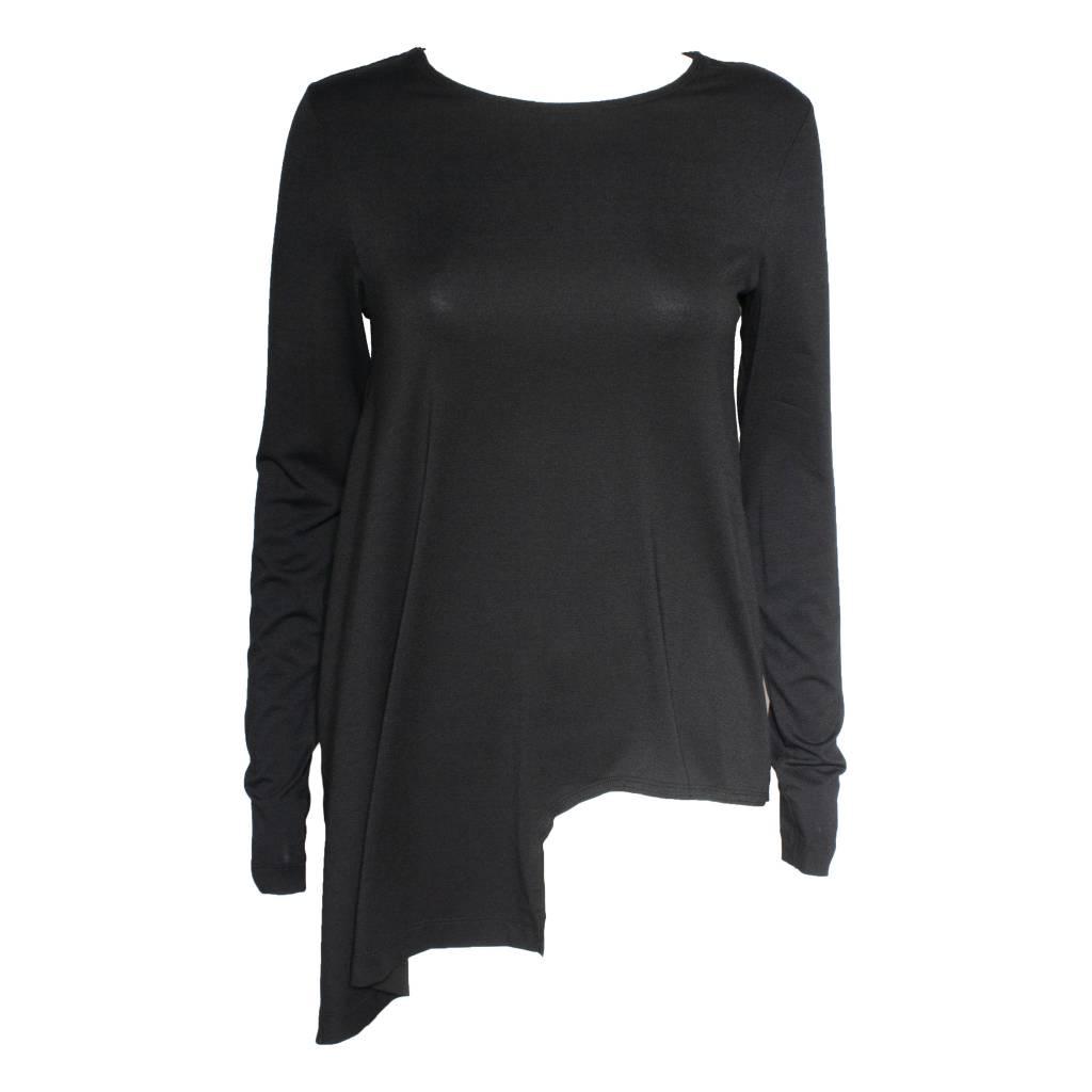 Xenia Xenia Black Arai Knitted Long Sleeve Shirt