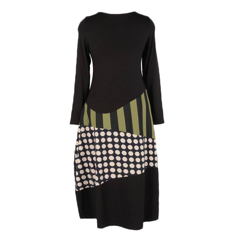 Alembika Alembika One Pocket Dress - Black/Olive/Taupe