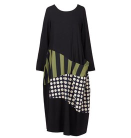 Alembika Alembika One Pocket Dress - Black/Olive/Taupe
