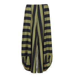 Alembika Alembika Striped Pant- Blk/Olive