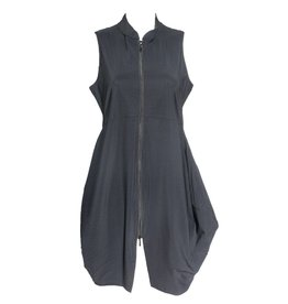 Porto Porto Tristan Dress Vest - Black Mini Stripe