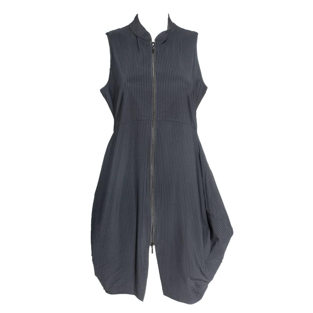 Porto Porto Tristan Dress Vest - Black Mini Stripe