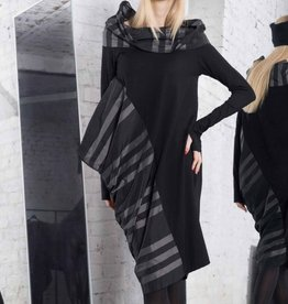 Xenia Xenia Black Iren Woven Dress