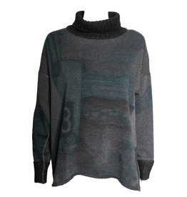 Yoshi Yoshi Yoshi Yoshi Long Sleeve Printed Sweater - Grey