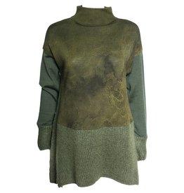 Yoshi Yoshi Yoshi Yoshi Long Sleeve Knitted Sweater - Emerald