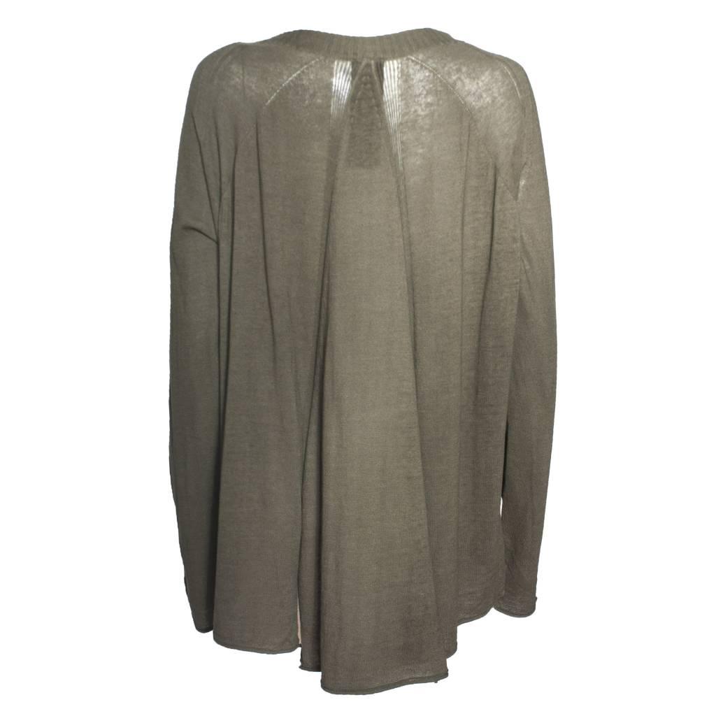 Studio Rundholz Studio Rundholz Long Sleeve Pleat Back Pullover - Vert
