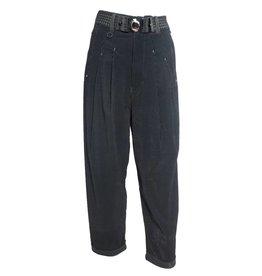 HIGH HIGH Hasten Pants - Black Pinstripe