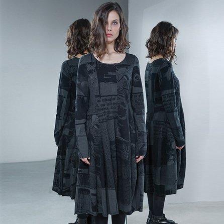 Studio Rundholz Studio Rundholz Long Sleeve Print Dress - Anthra Allove