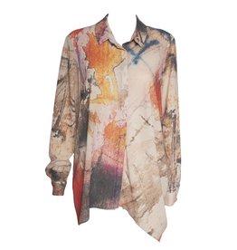 Crea Concept Crea Concept Canvas Print Buttonfront Shirt - Multi