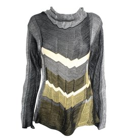 Crea Concept Crea Concept Layer Print Sweater - Multi