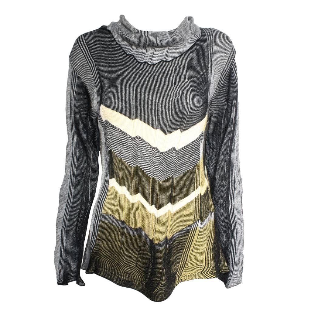 Crea Concept Crea Concept Layer Print Sweater - Multi