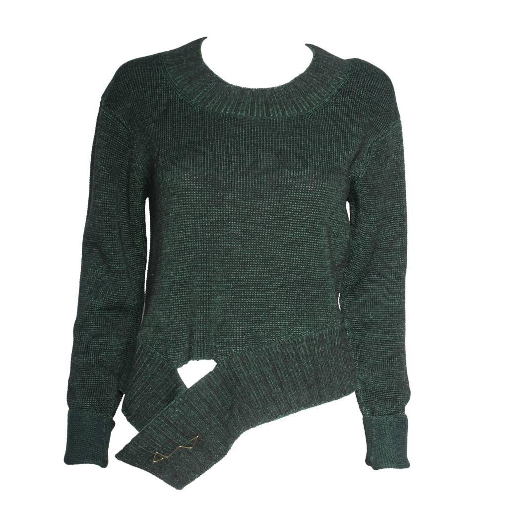 Crea Concept Crea Concept Sweater with Pin - Green