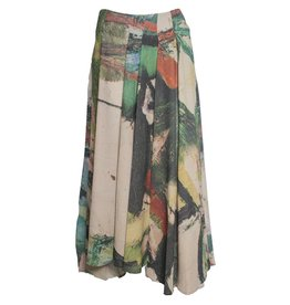 Crea Concept Crea Concept Canvas Print Front Pleat Skirt - Multi