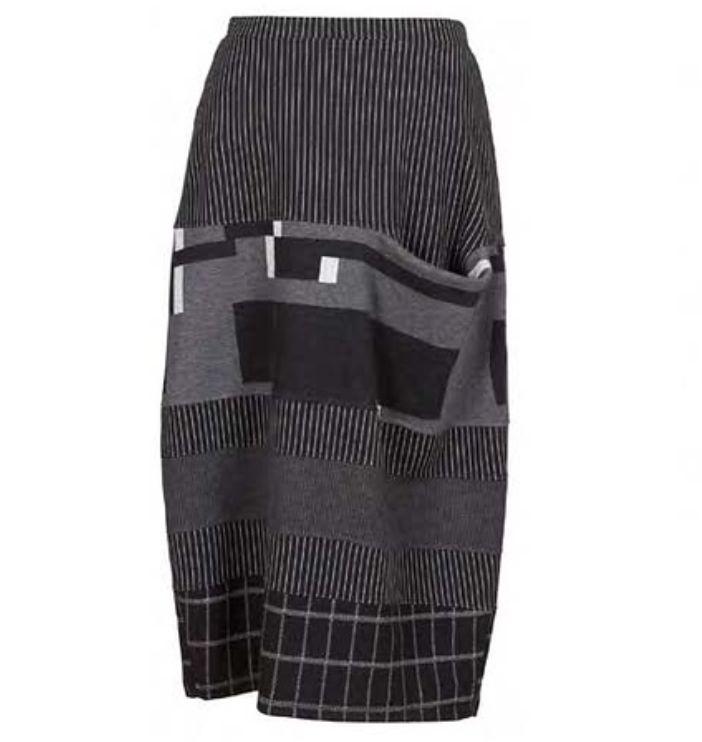Alembika Alembika One Pocket Skirt - Blk/Grey