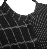 Alembika Alembika Stripe/Check Pocket Top - Blk/Grey