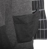Alembika Alembika Mock Collar Pocket Top - Charcoal