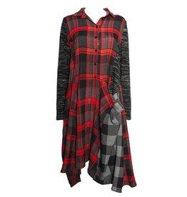 Alembika Alembika Plaid Dress - Red/Blk