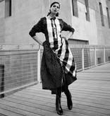 Alembika Alembika Big Check Dress - B/W
