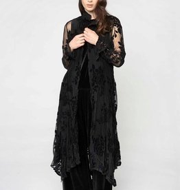 Alembika Alembika Sheer Burnout Dress - Black