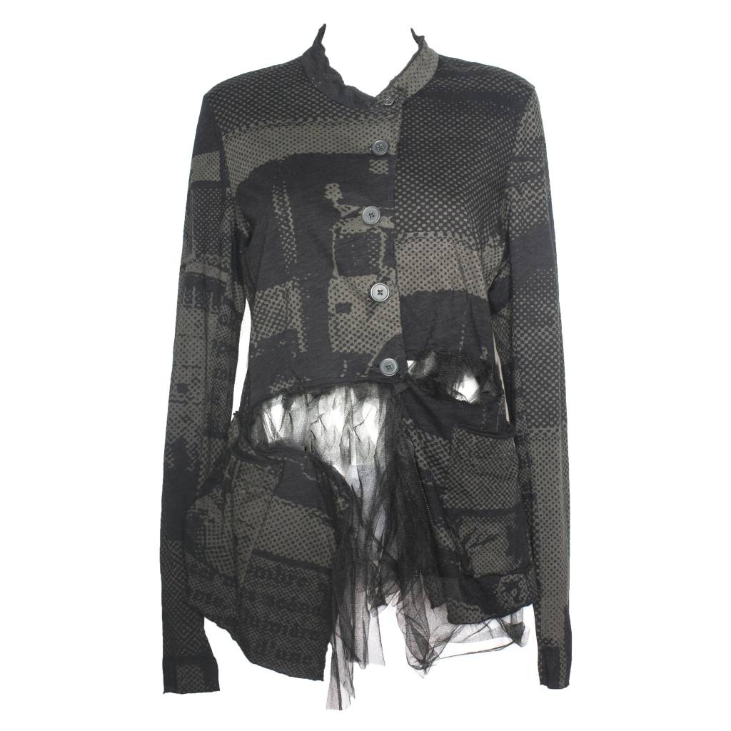 Studio Rundholz Studio Rundholz Tule Side Jacket - Mocca Print