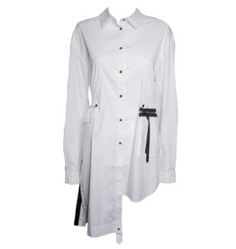 NY77 Design NY77 Design Button Down Zip Pocket - White