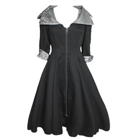 NY77 Design NY77 Design Collared Zip Dress - Black