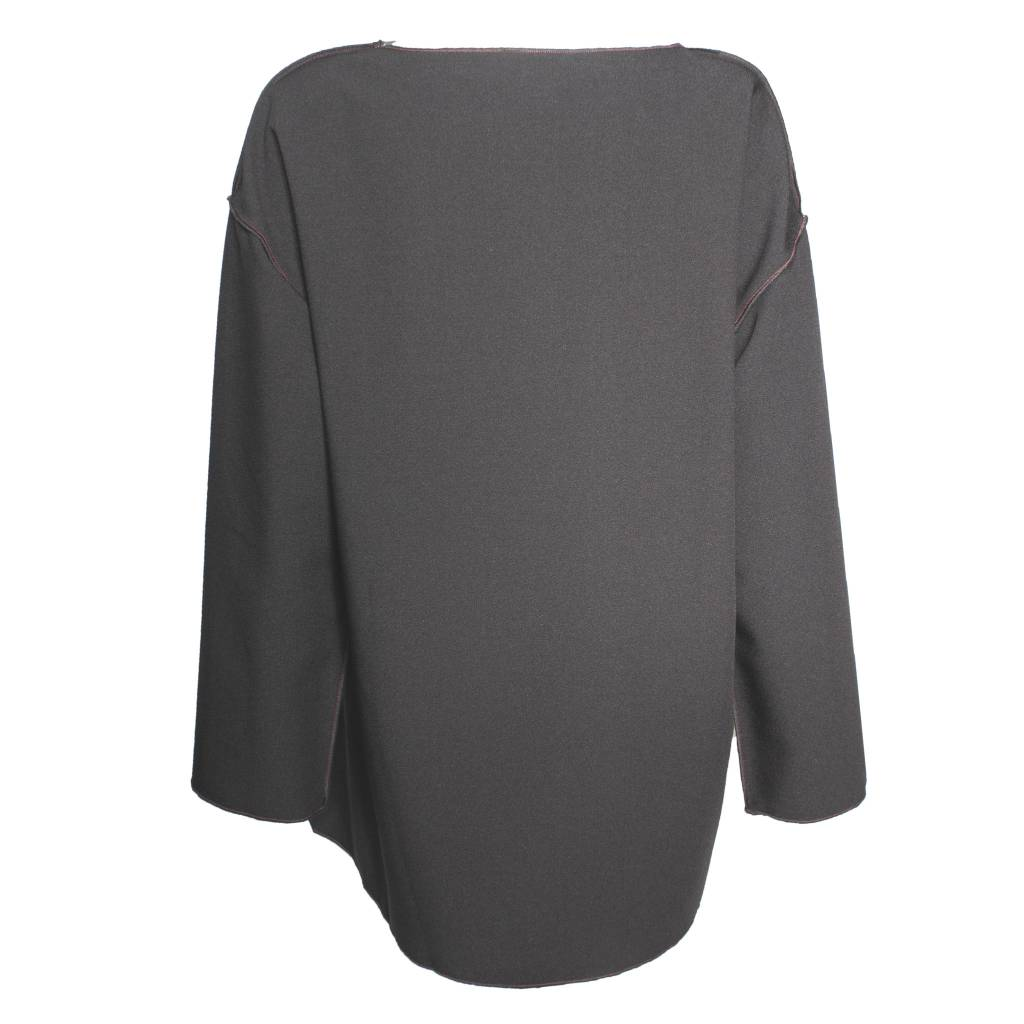 Xiao Xiao Stripped Debbie Long Sleeve Shirt - Black/Grey