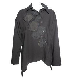 Xiao Xiao Angie Long Sleeve Shirt - Black