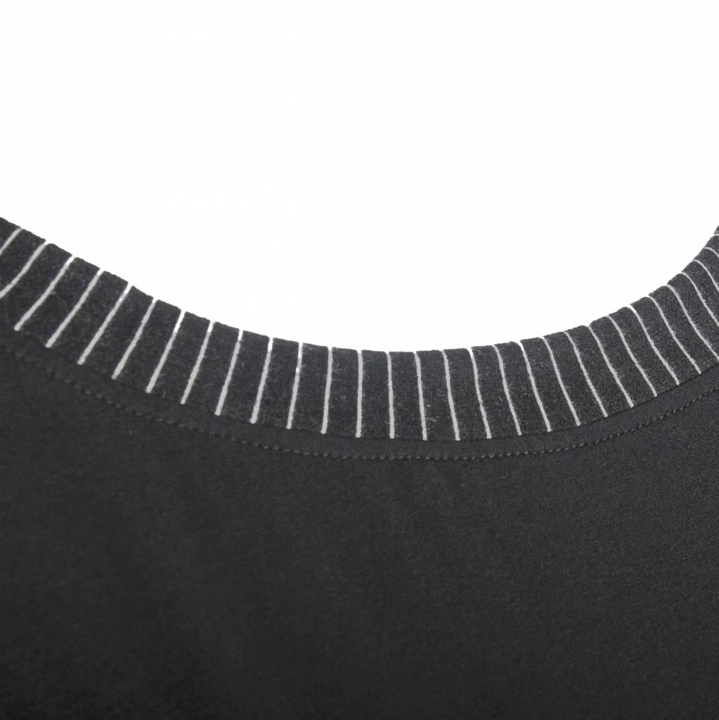 Alembika Alembika Stripe Collar Top - Black