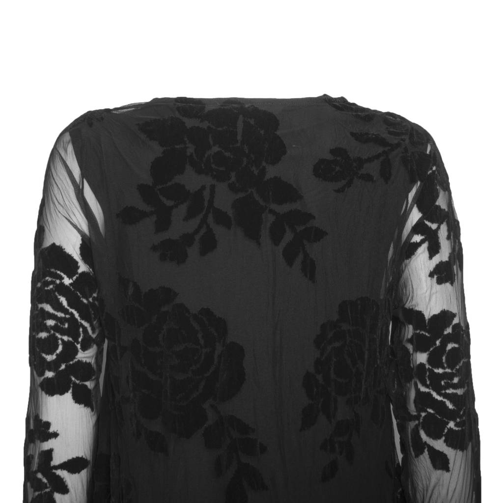 Alembika Alembika Sheer Burnout Shirt - Black