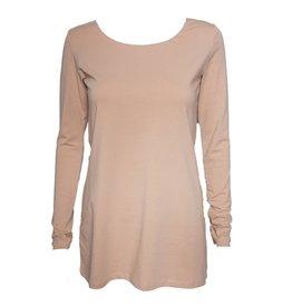 Crea Concept Crea Concept Knit Long Sleeve Top - Peach