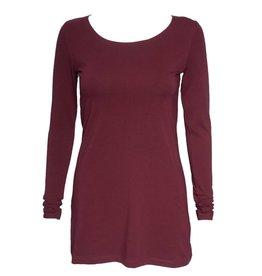 Crea Concept Crea Concept Knit Long Sleeve Top - Burgundy
