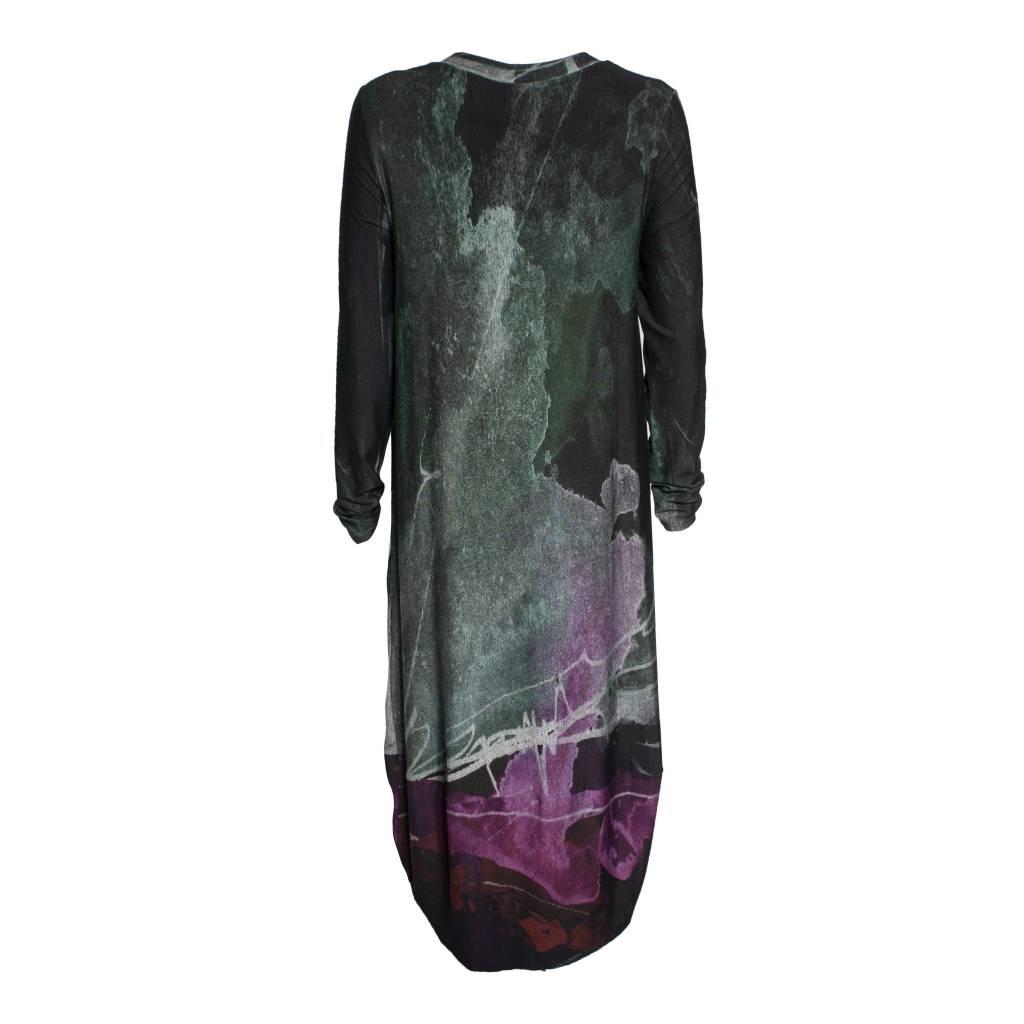 Crea Concept Crea Concept Graphic Knit Dress - Green