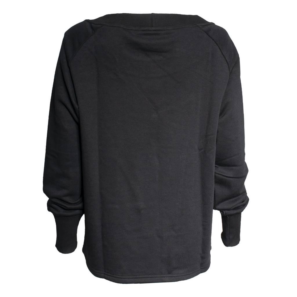NY77 Design NY77 Design Clear Pocket Long Sleeve Top - Black