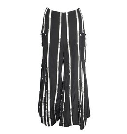 Matthildur Matthildur Stripes Jacquard Pants - Black/Ivory