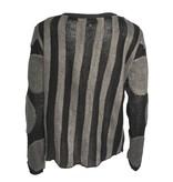 Redwood Court Redwood Court Striped Dot Cardigan - Black/Grey