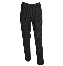 Redwood Court Redwood Court Pinstripe Ponte Ankle Pants - Black
