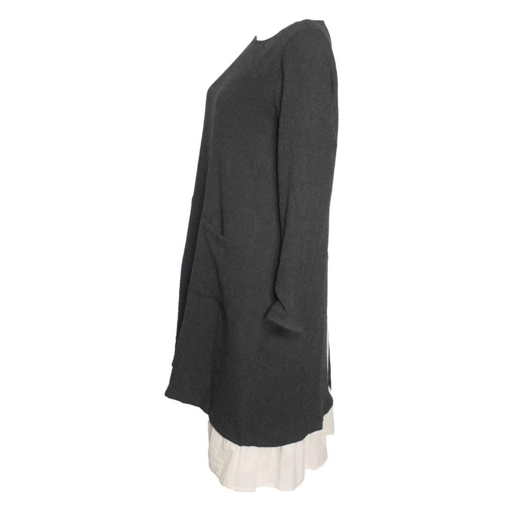 Gershon Bram Gershon Bram Sadie Slit Pocket Tunic - Grey/Ivory