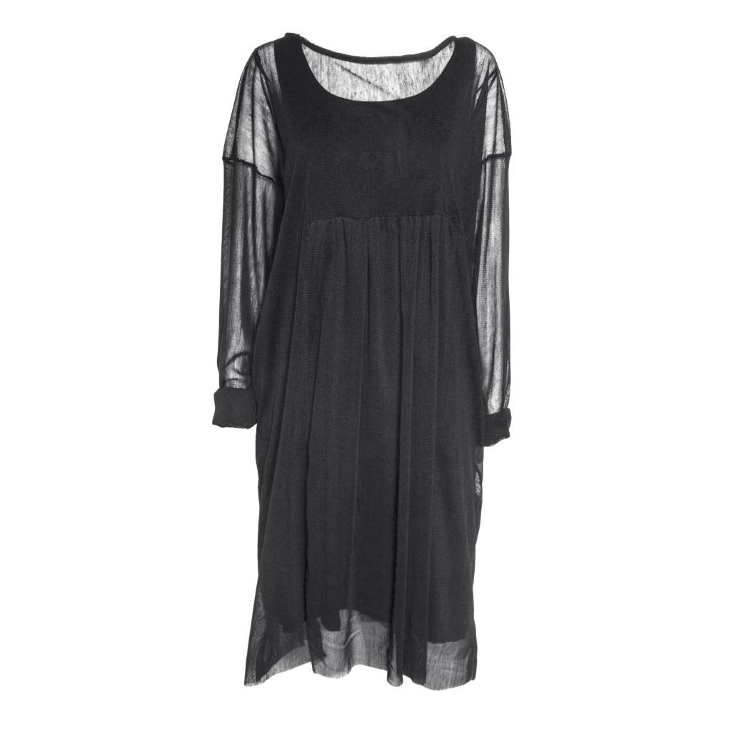 Gershon Bram Gershon Bram Adira Mesh Dress -Black