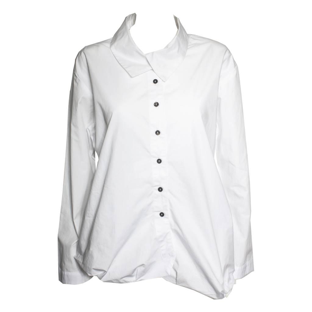 Moyuru Moyuru Collared Long Sleeve - White