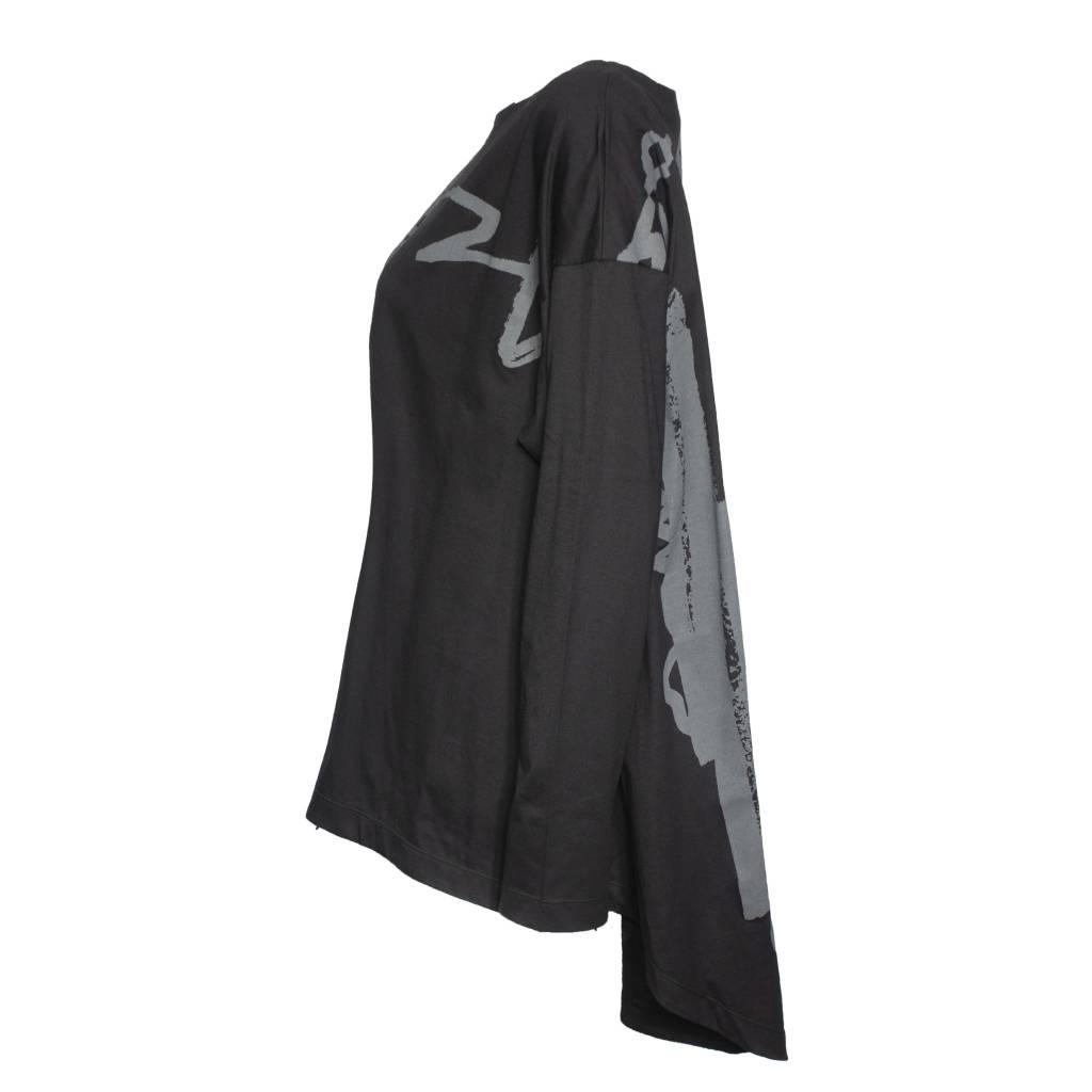 Moyuru Moyuru Sketch Print Long Sleeve - Grey/Black
