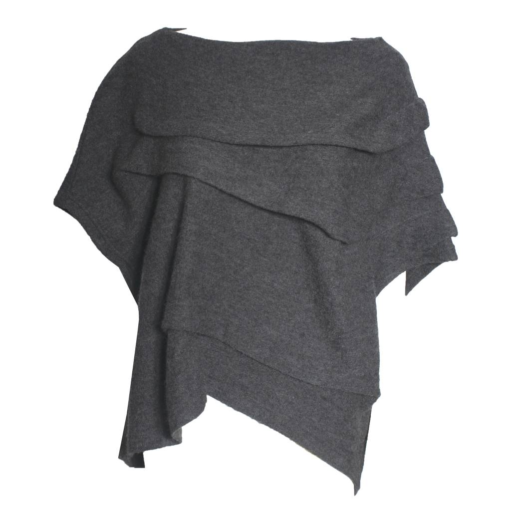 Moyuru Moyuru Short Sleeve Sweater - Grey