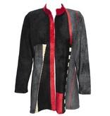 Mina Norton Mina Norton Chenille Jacket - Black/Red