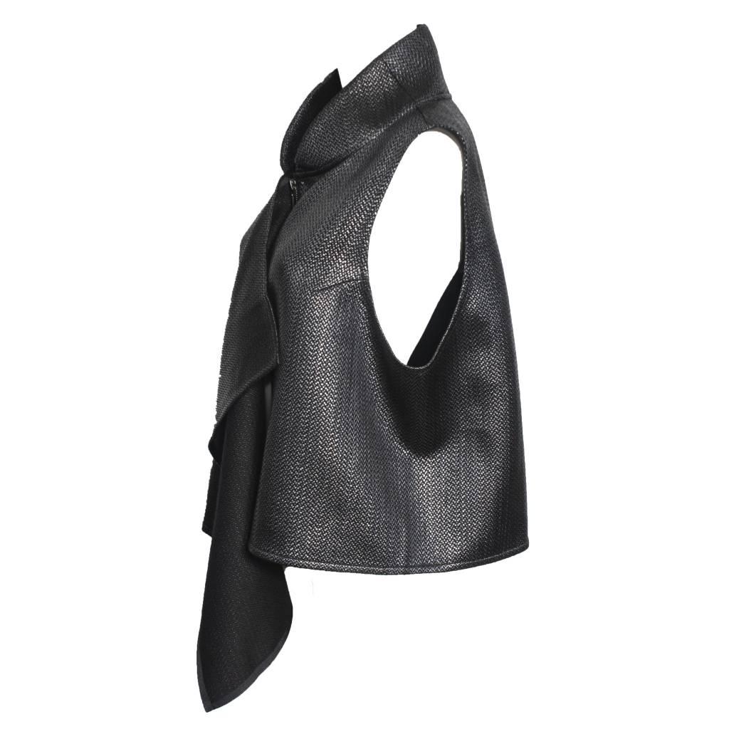 Kedziorek Kedziorek Collared Vest - Black