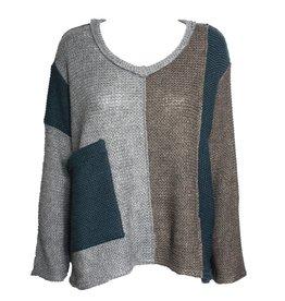 Kedziorek Kedziorek Patchwork Sweater - Multi Blue