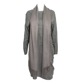 Colour 5 Power Colour 5 Power Knit Dress and Scarve - Grey